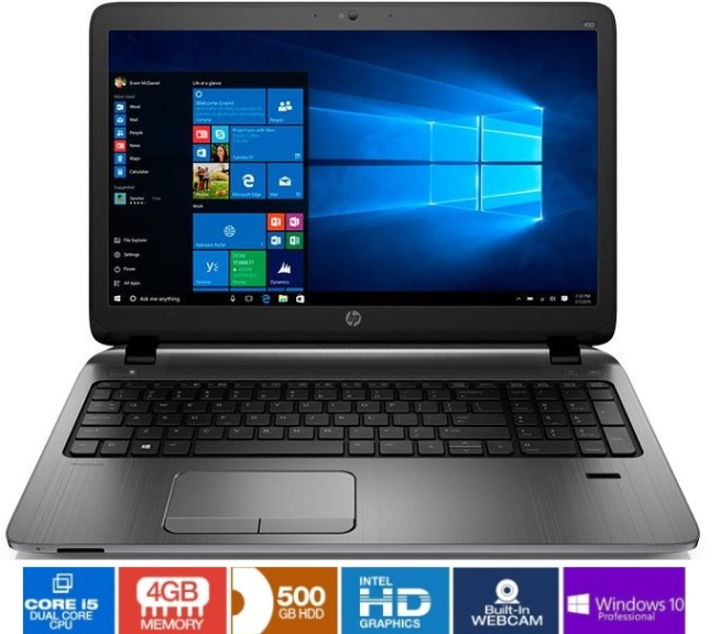 HP Probook 450 G3 Series Notebook, Intel Core i5 SkyLake Dual Core Image