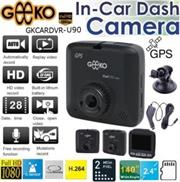 Geeko In-Car Dash Cam DVR Full High Definition DVR with Built in GPS signal receiver and 2.4 inch TFT Colour LCD Screen -2.0 Mega pixels Hardware Resolution , High quality Video Recording Resolution max. Full HD (1920 x 1080p) at 30fps , Support Auto